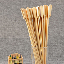 Flat BBQ Bamboo Skewers Paddle Sticks Grill Kebab Barbeque Bamboo Sticks