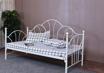 Wrought iron furniture metal divan day bed frame for sale for Divan bed frame sale