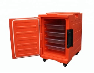 Insulated food warmer box room service for hot food transport