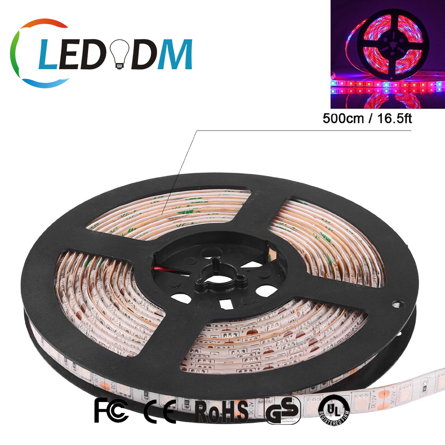 DC 12V Flexible Strip Full Spectrum IP65 Waterproof LED Grow Light Hydroponic with Red Blue Light for Plants