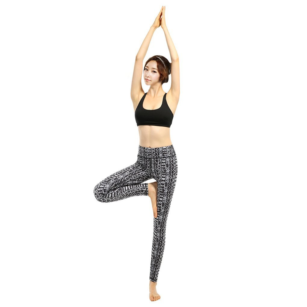 d10277f664733 Get Quotations · M-Egal Ladies Yoga Pants Serpentine Snake Skin Style  Printing High Elasticity Pants S