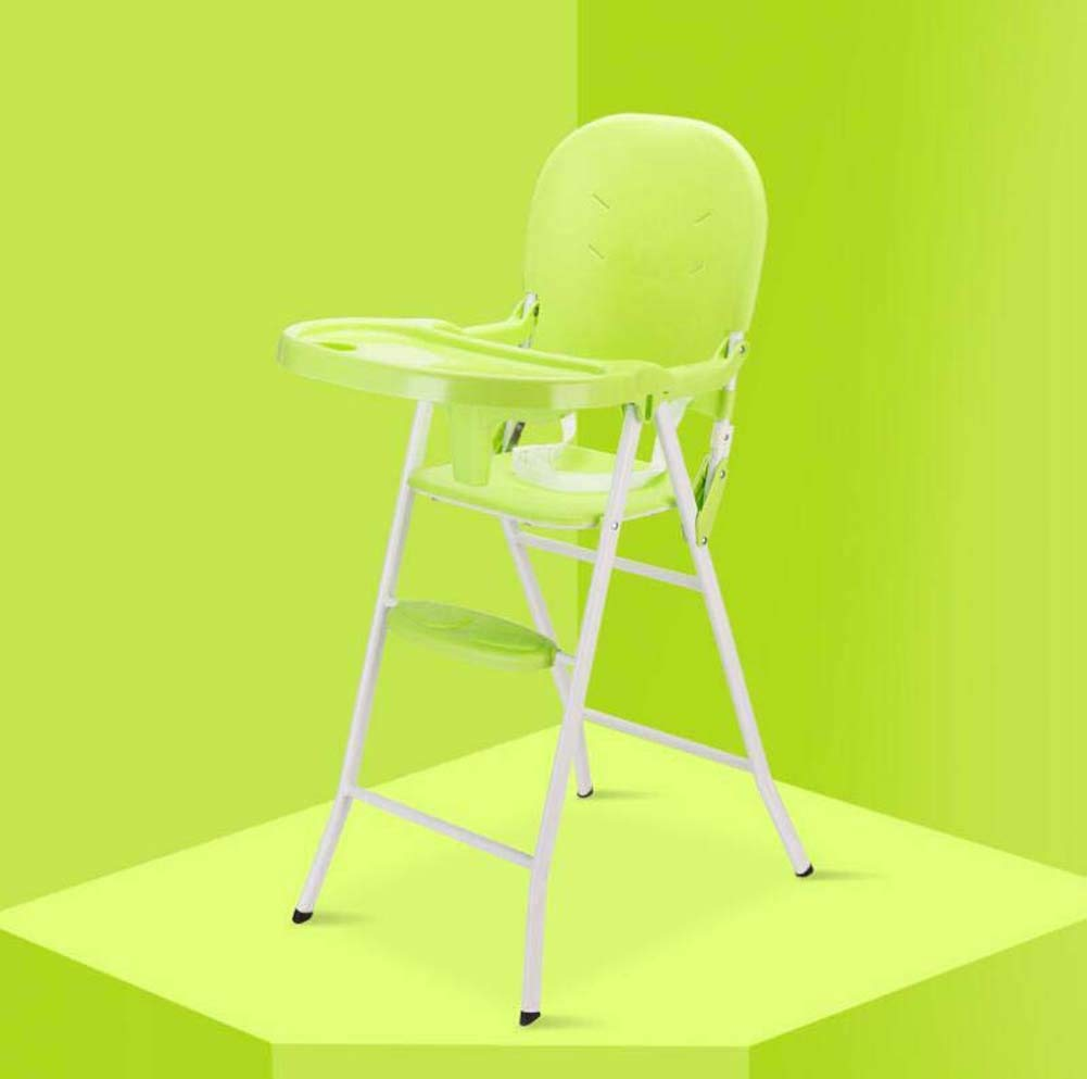 Portable Folding Chair Portable Baby Highchair, Contempo Highchair, Foldable Multi-Function Dining Chair, Out Eating Table and Chair Convenient and Practical (Color : Green)