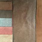 Embossed suede laminated with Brushed for sofa fabric/gold foil/upholstery Fabric