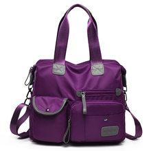 Многофункциональные багажные сумки для женщин с большим карманом, повседневная сумка-тоут, нейлоновая водонепроницаемая сумка через плечо...(Китай)
