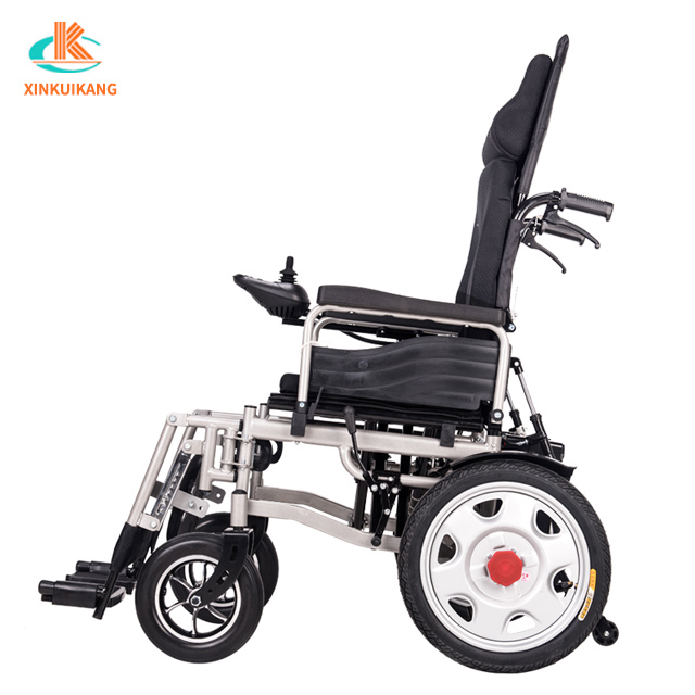 Humanization design foldable high back seat electric wheelchair