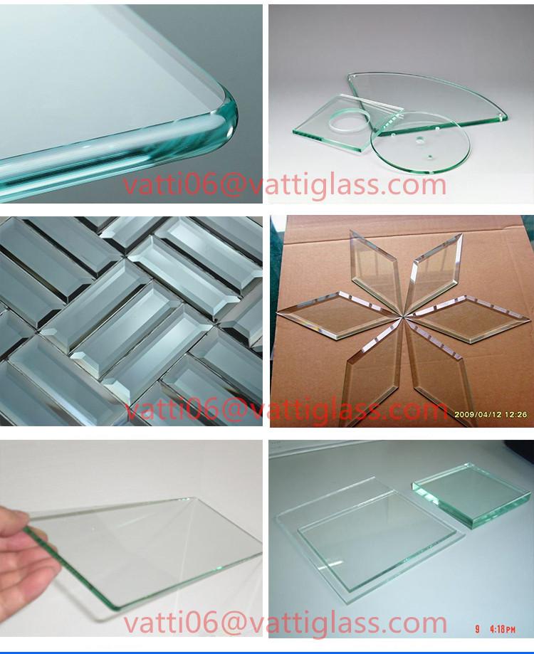 Silk Screen Printing Beveled Glass Mirror Pieces Beveled