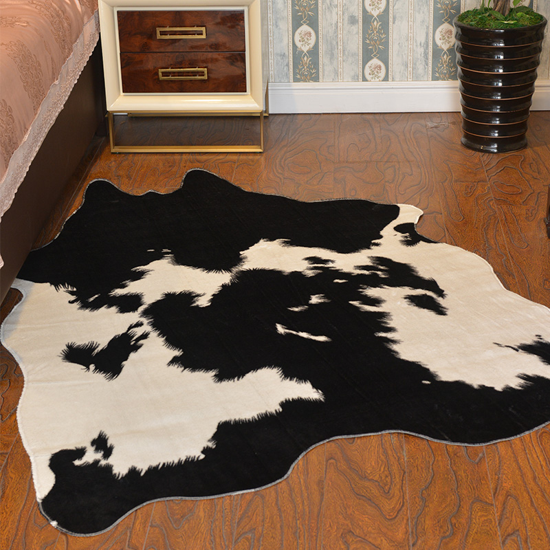 Nordic style rug Animal Skin Carpet cow cheap prices , China wholesale rug