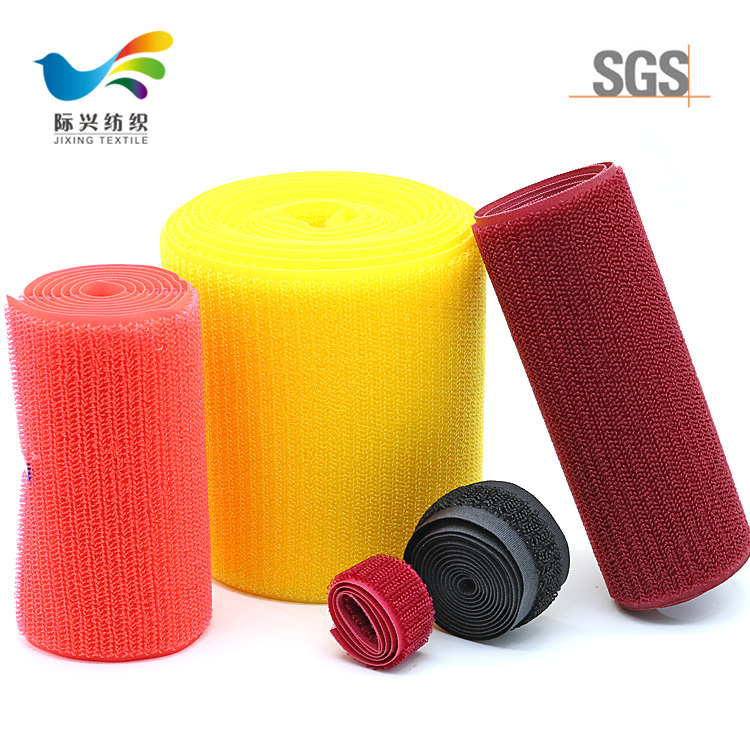 Wholesale back strong sticky glue Different Size And Colorful Hook And Loop Self Adhesive Tape