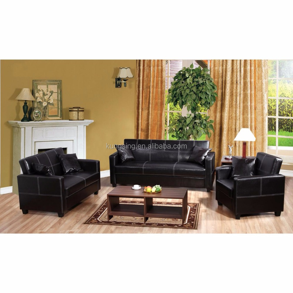 Black Leather Sofa Set White Stitching Designs And Prices Buy Sofa