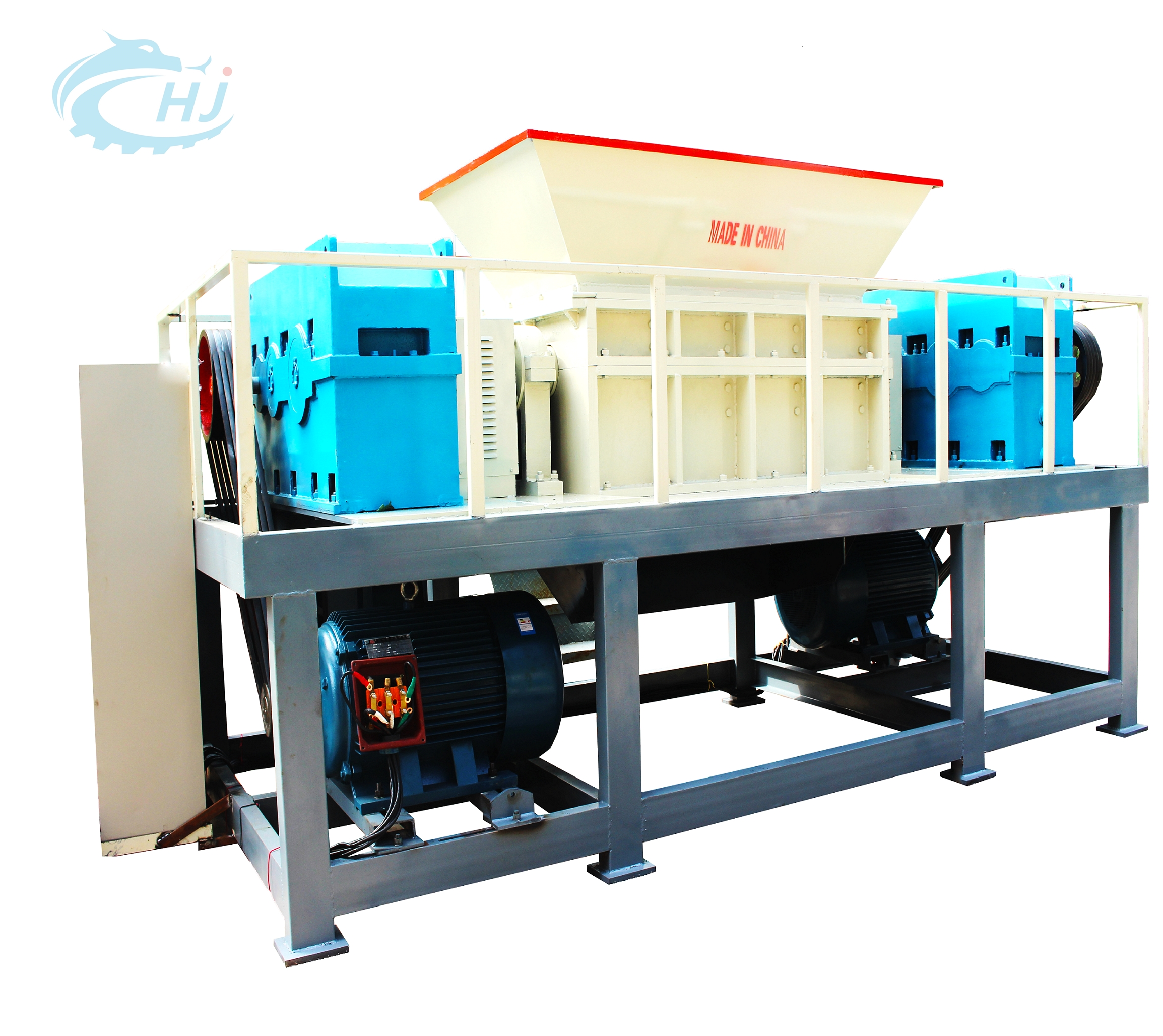 widely used low price pet plastic and paper double shaft shredder machine for sale