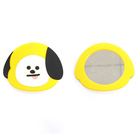 3D character make-up mirror silicone case
