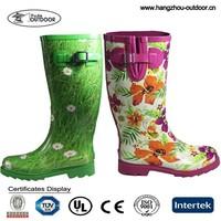 Ladies Fancy Rubber Rain Boots Supplier