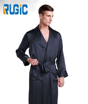 5a9065e8fc2f1 Summer Sleepwear Men Satin 100% Silk V Neck Kimono Collar Men's Nighty Men  Bathrobe - Buy Men Robe,Men Kimono Robe,Men Satin Bathrobe Product on ...
