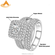 2018 New AAA White Cubic Zirconia Ring Set,China Manufacturer Supplies High Quality Fashion Jewelry Luxury Rings for Women