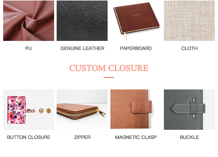 Wholesale Custom Printed A5 Leather School Notebook With Power Bank And USB