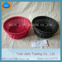 New item handmade weaving round red plastic arts & crafts basket
