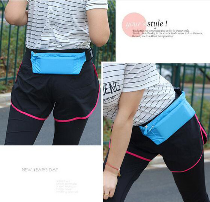 Wholesale bulk candy color simple adult waist bag running