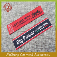 manufacturer Apprarel labels tags brand name 100% polyester woven damask labels clothing