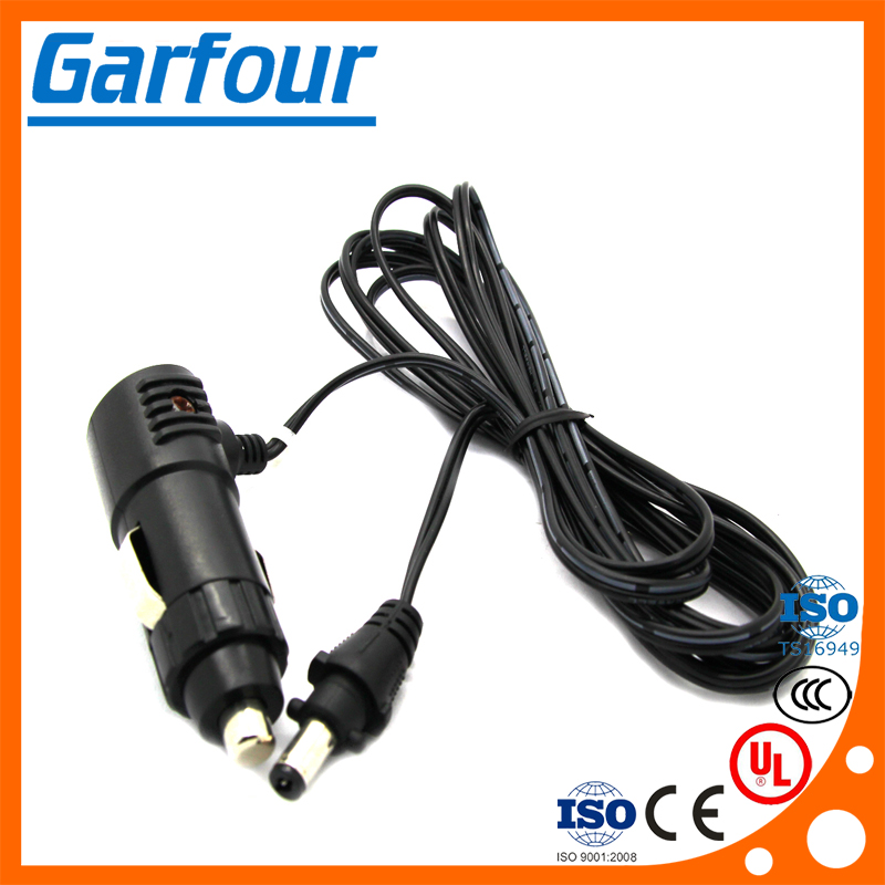 2 A car charger cable 1M with dc 55*21MM male plug