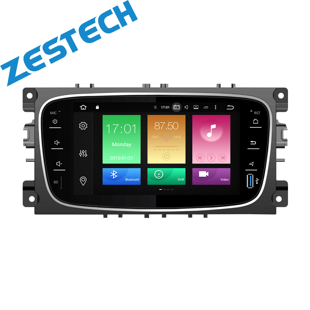 double din android 8.0 Car Head Unit DVD Player Auto Radio For Ford Focus/Mondeo/S-MAX/Connec Stereo GPS Navigation