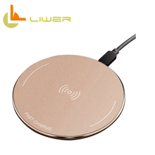 Fast charge 10w ultra slim round shape qi wireless charger for samsung galaxy