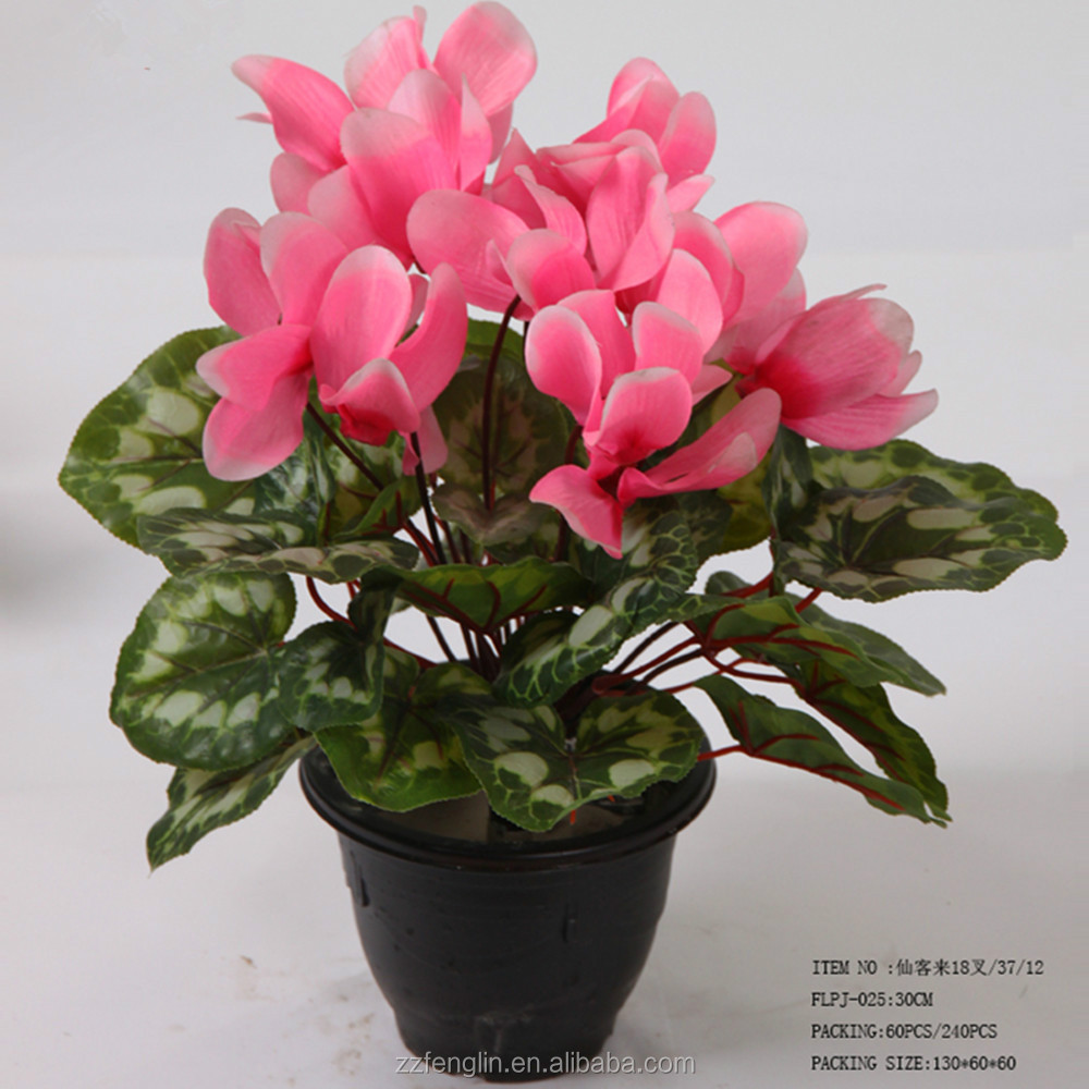 High Quality Silk Flowers Cyclamen Artificial Flower Wholesale China