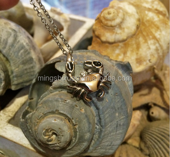 2017 Summer Beach Jewellery - Stainless Steel Crab Cremation Pedant Jewelry Urn Ashes Necklace
