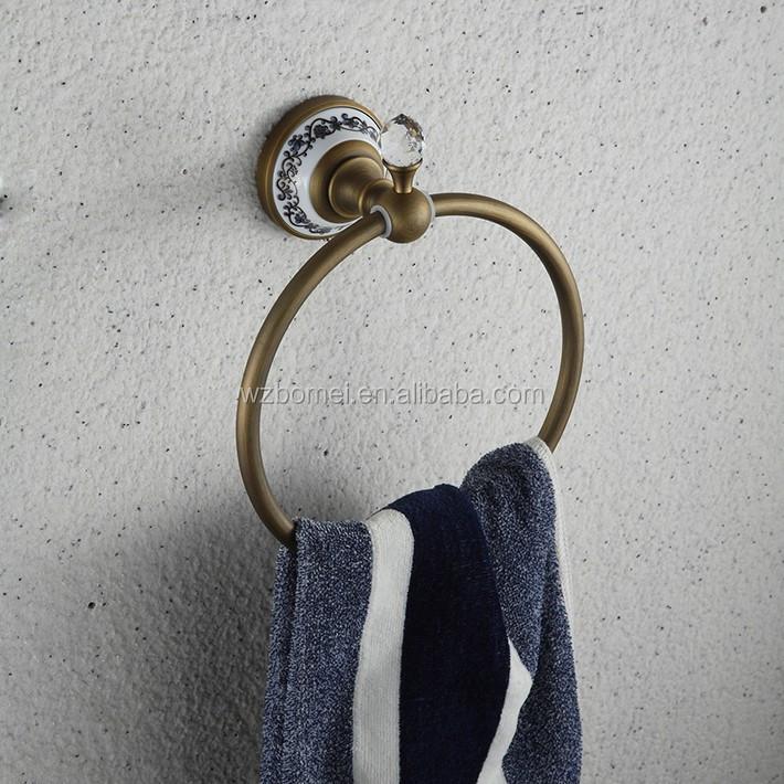 Mur monté laiton ronde anneau cristal bouton base en ...