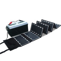 Sunpower Solar cells Dual Output 60W DC 18V USB 5V foldable & portable solar panel battery charger for boat/car/golf cart