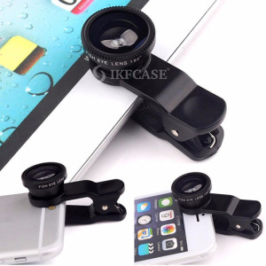 2018 Universal 3 in 1 Wide Angle Macro Fisheye Clip Lens for iPhone Magnetic Mobile Phone Lens for Samsung S4 Note All Phone