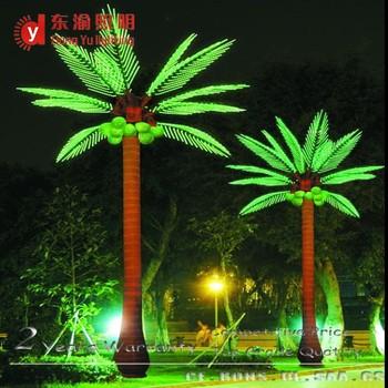 Solar Led Outdoor Landscape Light Up Artificial Coconut Palm Tree