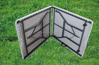 6 ft Rectangular Plastic Folding In Half Table,Plastic foldable table,HY-Z183