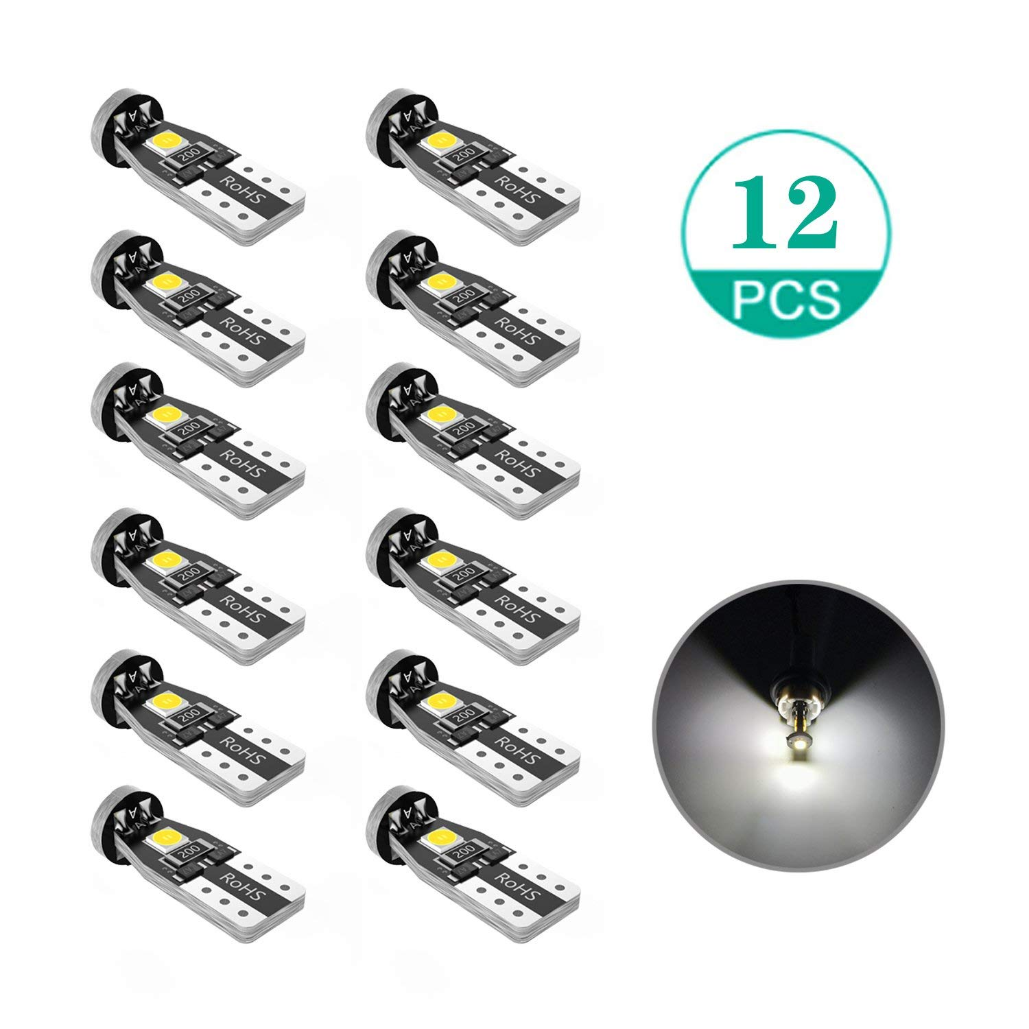 VANSSI High Power 2x18W COB Chipset Super Bright 2504 PSX24W LED Bulbs 6000K White LED Fog Light Bulbs DRL Lamps Replacement Pack of two bulbs