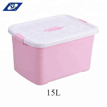 40l Easy Carry Pink Decorative Plastic Storage Box With Handle Buy Simple Decorative Plastic Storage Boxes