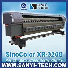 Flex Banner Printer Sinocolor XR-3208, With Xaar Proton 382 Heads,3.2m
