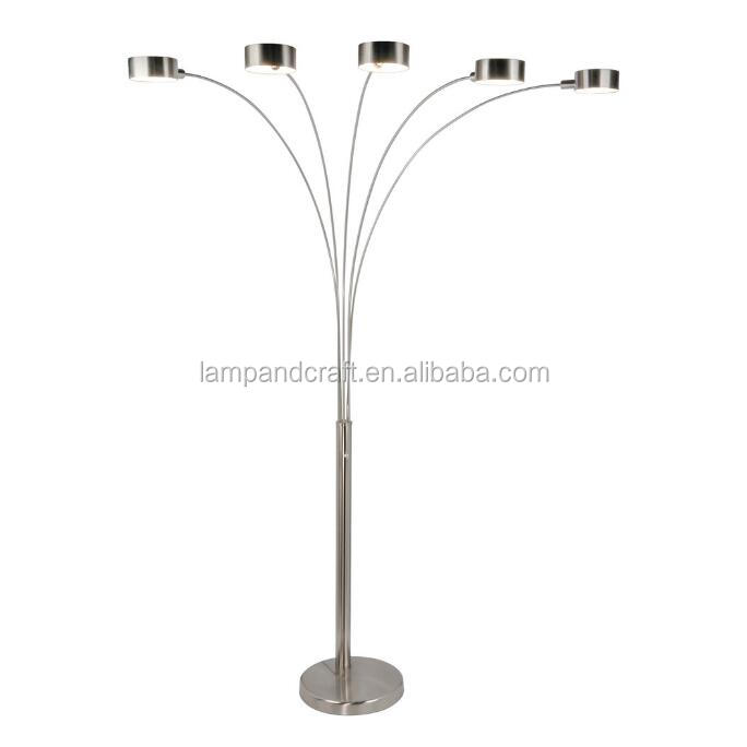 Modern metal uplight floor lamp with silver polish five light flower modern metal uplight floor lamp with silver polish five light flower shape fish floor lamp for home hotel decoration project buy metal uplight floor lamp tyukafo