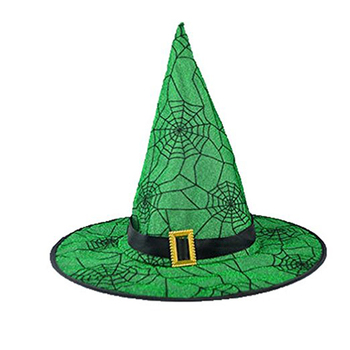 71fb1d232 Adult Womens Green Spider Web Witch Hat For Halloween Costume Accessory -  Buy Halloween Witch Hat,Halloween Hat,Woman Halloween Hats Product on ...