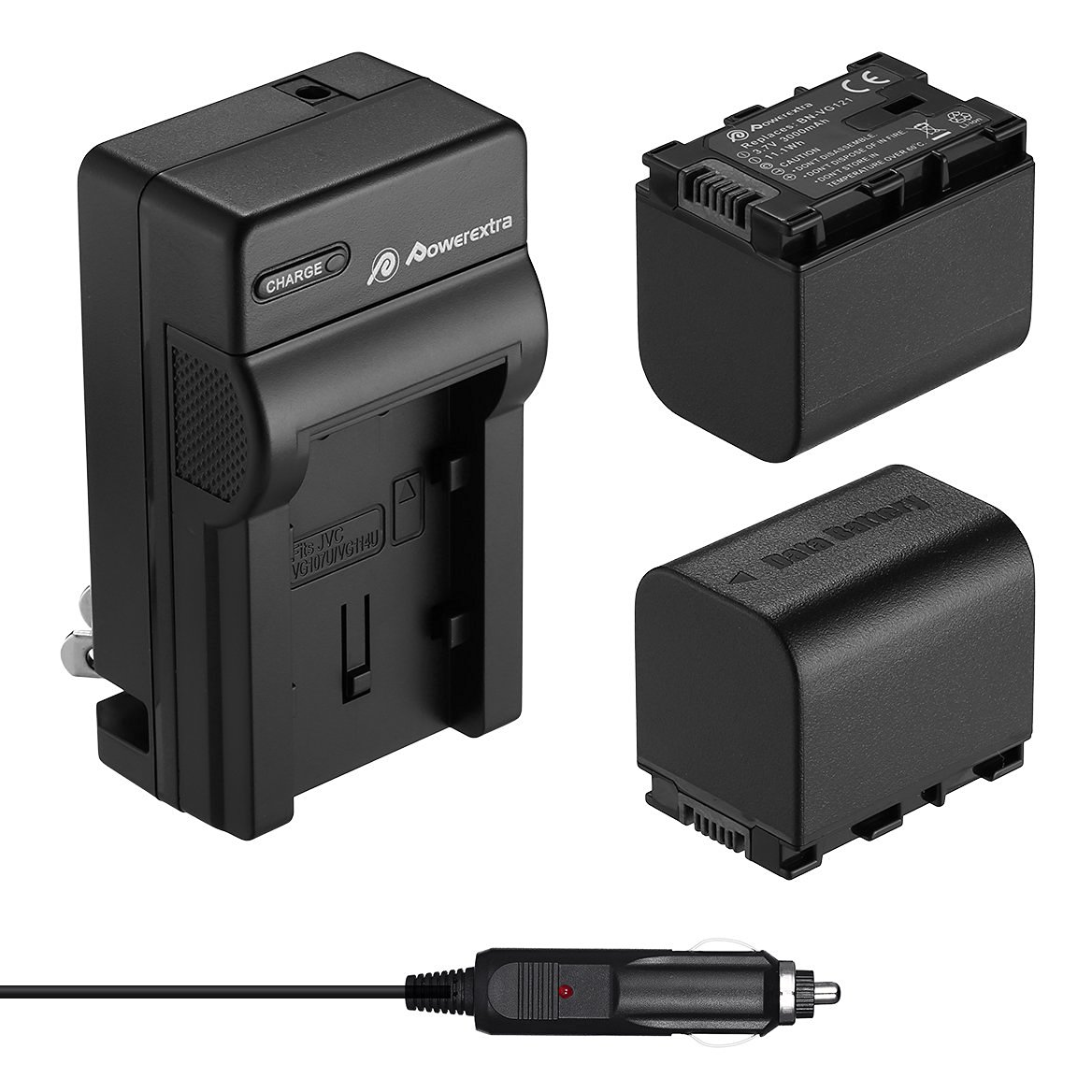 Kastar Battery Charger With US Flip EU Plug and Car Adapter for JVC BN-VG107 BN-VG114 BN-VG121 BN-VG138 Battery and Camcorder