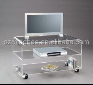 Marvelous Clear Acrylic Tv Table,plasma Tv Glass Table,furniture Design Tv Table