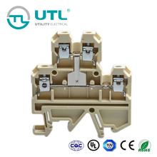 UTL Double-Layer Interconnection With UL VDE ROHS Terminal Block Beige Light Brown