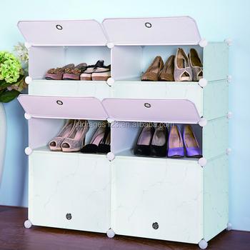 Stylish Plastic Shoe And Boot Storage Cabinet