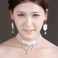 MYLOVE imitation pearl jewelry set rose women accessory vintage necklace MLT025