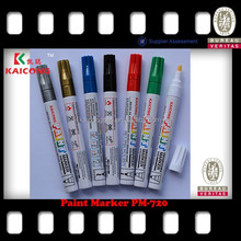 KAICONG Oil-based opaque ink paint marker pen 6 Colors Set Paint Oil Based Permanent Marker Pen Glass Metal Wood Waterproof