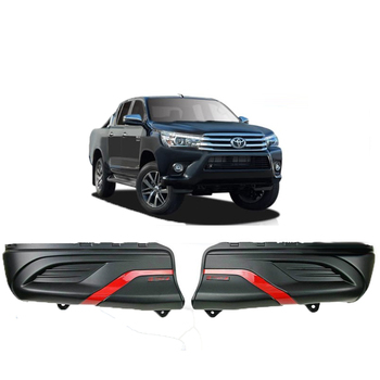 4X4 Auto Parts Rear Bumper Corner Cladding Cover Rear Bumper Cover Replacement for Hilux Revo 2015+