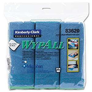 CLOTHS, MICROFIBER, WYPALL, BLUE, 6 WIPES / PK ( CLOTHS, MICROFIBER, WYPALL, BLUE, 6 WIPES / PK ) 4 Pack / Case