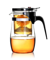 Loose Leaf Tea Maker with Glass Teapot, Built in Infuser and Removable Filter 800ml