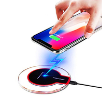 2020 Universal Qi wireless charger New Ultra-Thin Crystal 5W K9 Wireless Charging for iphone Samsung UUTEK