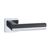 Metal Big Pattern aluminum Designer Security Main Matt Black Door Handle