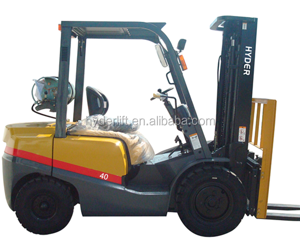 4000kg LPG gas hyder forklift logistics equipment