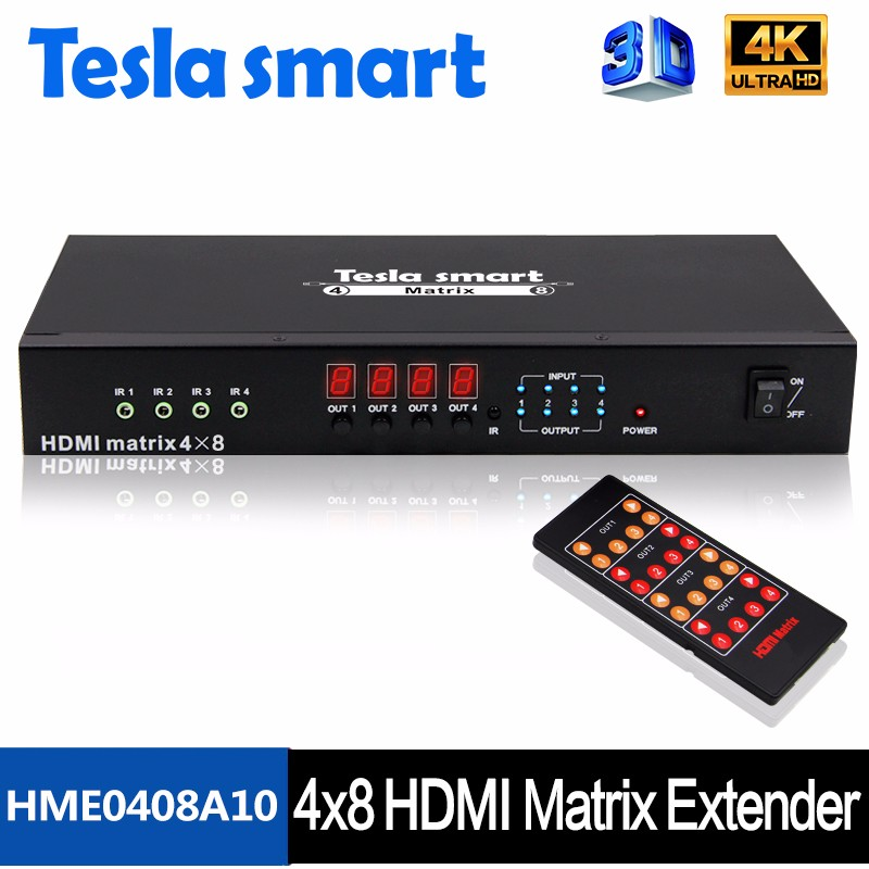 RX TX HDMI Matrix Extender 4x8 with Smart EDID for Flexible Change